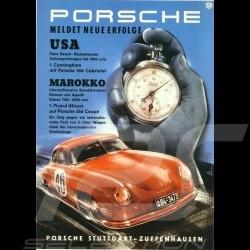 Porsche Poster Porsche 356 rouge chrono affiche originale de Erich Strenger