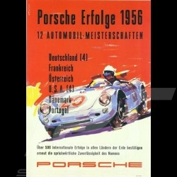 Porsche Poster Erfolge 1956 Porsche 550 affiche originale de Erich Strenger