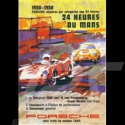 Porsche Poster 24h du Mans 1950 - 1956 affiche originale de Erich Strenger