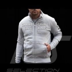 Gulf fleece Jacke Reißverschluss grau für Herren