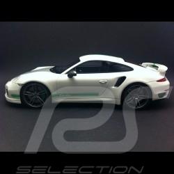 Porsche 991 Turbo S Techart blanc / gris / vert 1/18 GT SPIRIT GT801