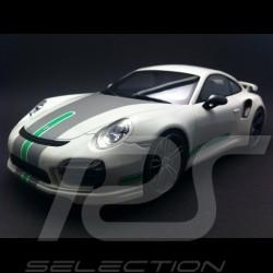 Porsche 991 Turbo S Techart white / grey / green 1/18 GT SPIRIT GT801