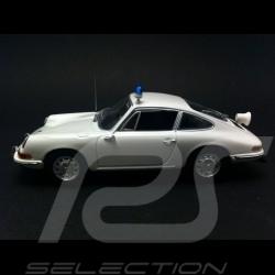 Porsche 911 2.4 T Polizei 1972 blanche 1/43 Minichamps WAP020SET38