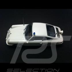 Porsche 911 2.4 T Polizei 1972 weiß 1/43 Minichamps WAP020SET38