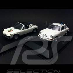 Duo Porsche 911 / 914 Polizei 1971 / 1972 1/43 Minichamps WAP020SET28 / WAP020SET38