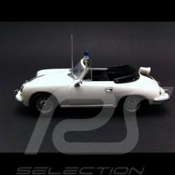 Porsche 356 C Cabriolet Polizei 1965 blanche 1/43 Minichamps WAP020SET18