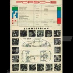 """Poster original Porsche """"Typ 356A Schmierplan"""" PCG35646010"""