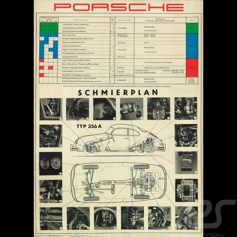 """Original Poster Porsche """"Typ 356A Schmierplan"""" PCG35646010"""