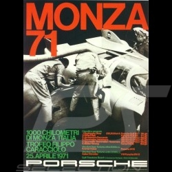 Porsche Poster Monza 1971 affiche originale de Erich Strenger 43