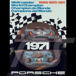 Porsche Poster 908 917 Weltmeister 1969 1970 1971