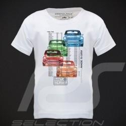 T-Shirt enfant teintes Porsche 911 blanc KID KINDER