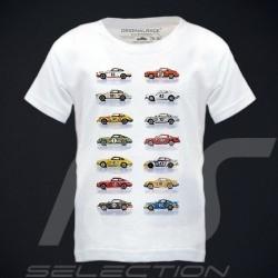 T-Shirt Porsche 911 voitures course blanc - enfant