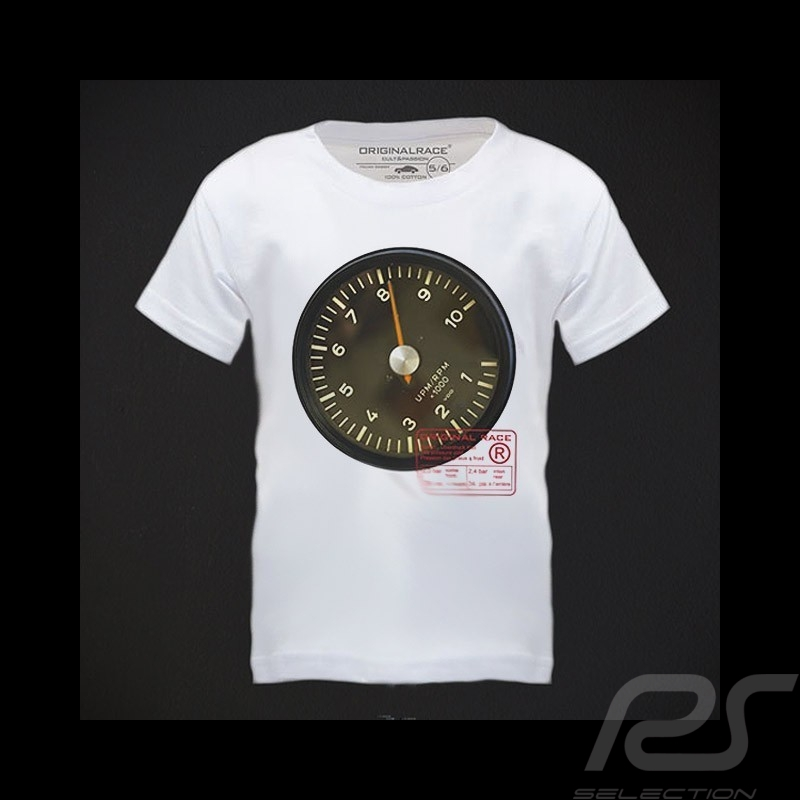 T-Shirt enfant Porsche Racer's Tach blanc kid kinder