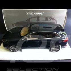 Porsche Cayenne Turbo S 2014 blue 1/18 Minichamps 110064001
