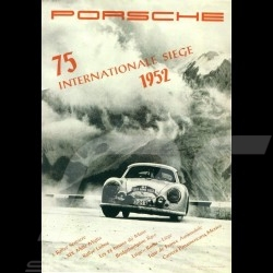 Porsche Poster Porsche 356 75 Internationale Siege 1952