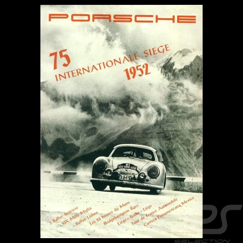 Porsche Poster Porsche 356 75 Internationale Siege 1952