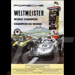 Porsche Poster 718 Champion du monde F2 1960 Nürburgring