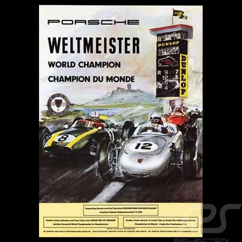 Porsche Poster 718 F2 World champion 1960 Nürburgring