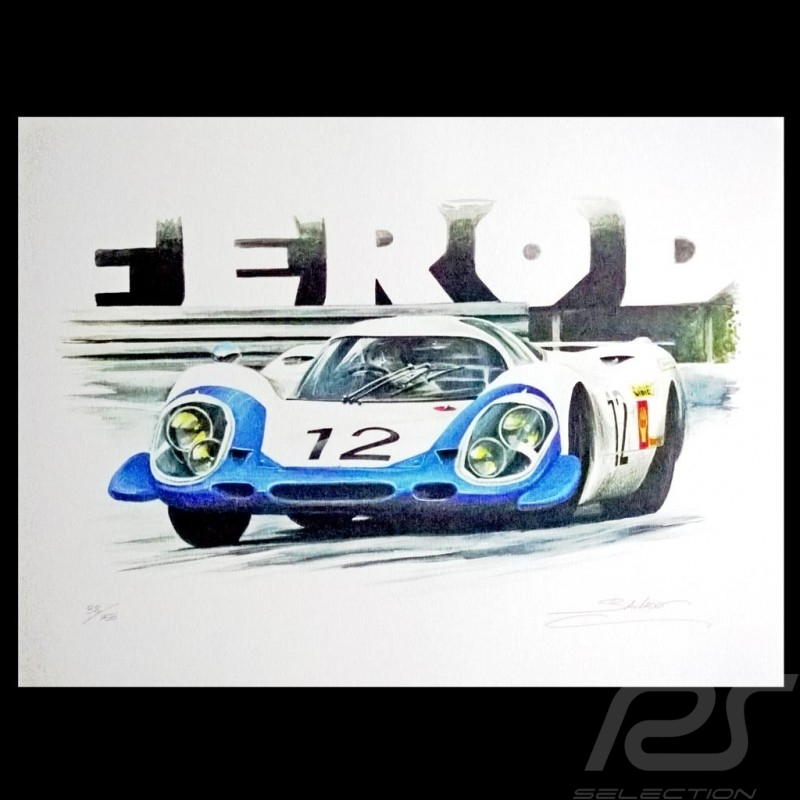 Porsche 917 Le Mans 1970 n° 23 Original Zeichnung von Sébastien Sauvadet