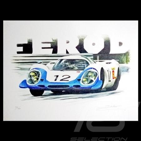 Porsche 917 Le Mans 1969 n° 12 dessin original de Sébastien Sauvadet