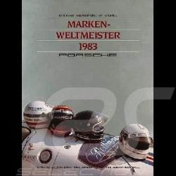 Porsche Poster Porsche Marken Weltmeister 1983