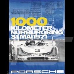 Porsche Poster 908 1000 kilometer Nürburgring 1971