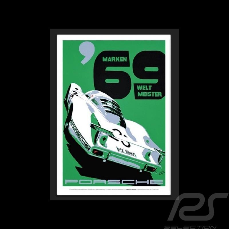 Porsche 1969 Marken Weltmeister Wiedergabe einer originale Plakat von Nicolas Hunziker