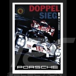 Porsche 919 Le Mans 2015 reproduction d'un poster original de Nicolas Hunziker