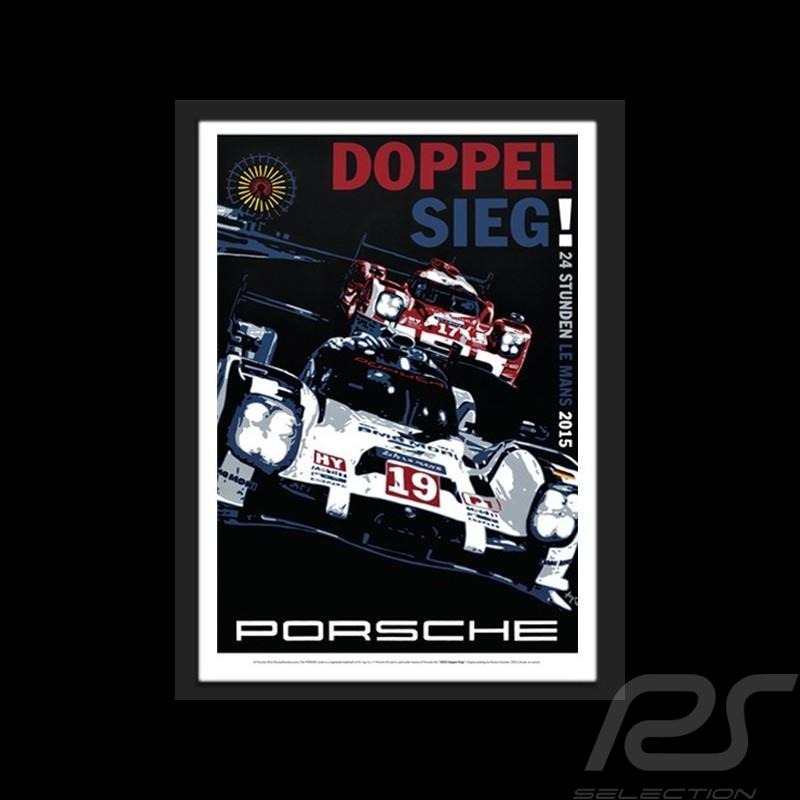 Porsche 919 Le Mans 2015 Wiedergabe einer originale Plakat von Nicolas Hunziker