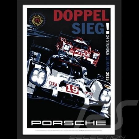 Porsche 919 Le Mans 2015 reproduction of an original poster by Nicolas Hunziker