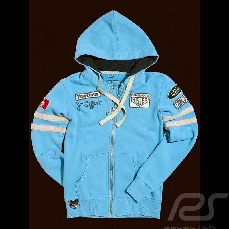 Porsche veste hoodie Jo Siffert n° 12 bleu Gulf hoodie jacket Hoodie Jacke