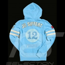 Porsche hoodie jacket Jo Siffert n° 12 Gulf blue for women