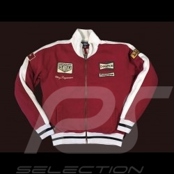 Jacket Clay Regazzoni red vest for men