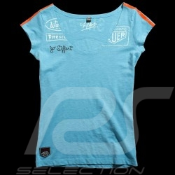 Tee-shirt femme Jo Siffert Targa Gulf Blue n° 12