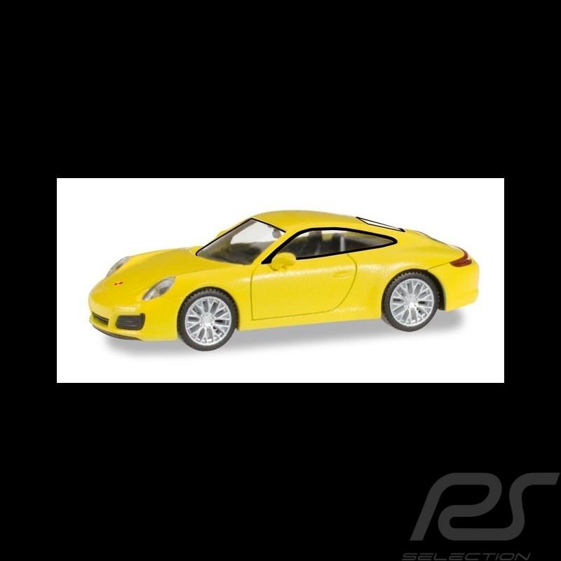 Porsche 911 Carrera 4S jaune 1/87 Herpa 028639