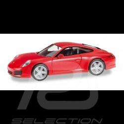 Porsche 911 Carrera 4S rouge 1/87 Herpa 028646