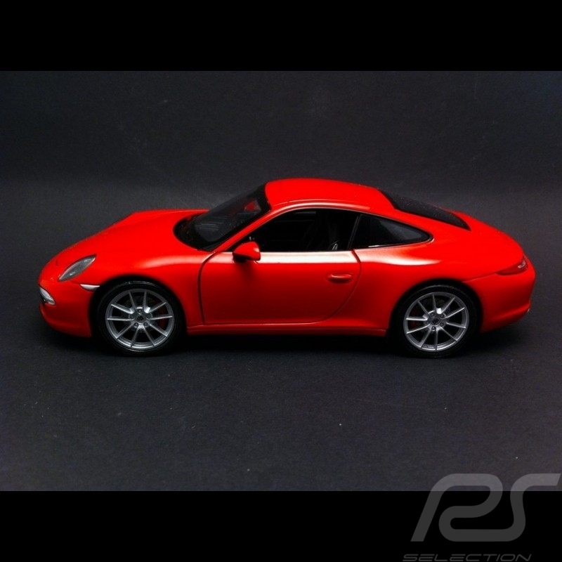 Porsche 991 Carrera S Coupe rouge 1/24 Welly 24040