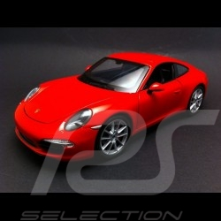 Porsche 991 Carrera S Coupe red 1/24 Welly 24040