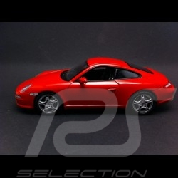 Porsche 997 Carrera S Coupe rouge 1/24 Welly 22477