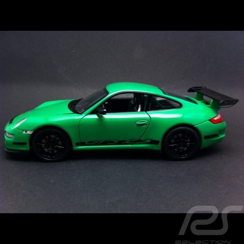 Porsche 997 GT3 RS green / black 1/24 Welly 22495