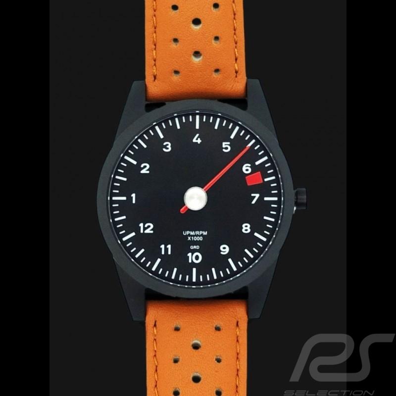 Uhr Porsche 911 Tachometer Single-Nadel brown