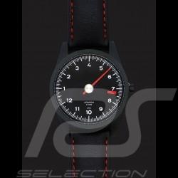 Montre Porsche 911 compte-tours mono-aiguille noir Watch Tachometer single-needle Uhr Tachometer Single-Nadel
