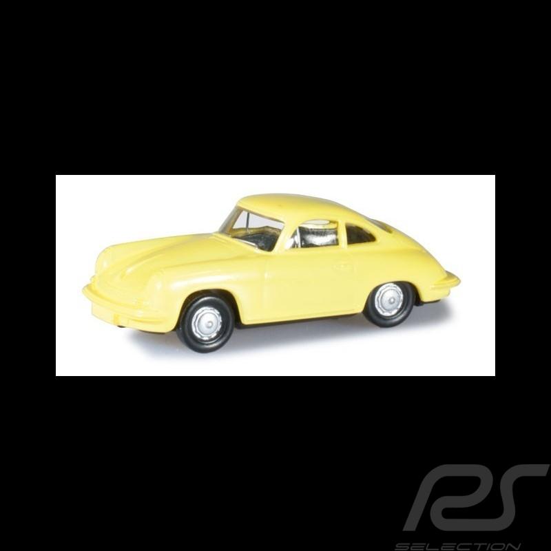 Porsche 356 Coupé jaune souffre 1/87 Herpa 024709-003