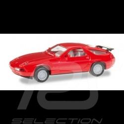 Porsche 928 S4 rouge Minikit 1/87 Herpa 012669-003