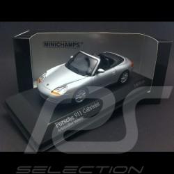 Porsche 996 Carrera Cabriolet 1998 gris argent 1/43 Minichamps 400061091