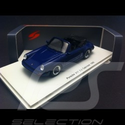 Porsche 911 3.2 Cabriolet 1989 bleu blue blau 1/43 Spark S4468
