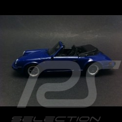 Porsche 911 3.2 Cabriolet 1989 bleu 1/43 Spark S4468