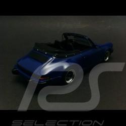 Porsche 911 3.2 Cabriolet 1989 blue 1/43 Spark S4468