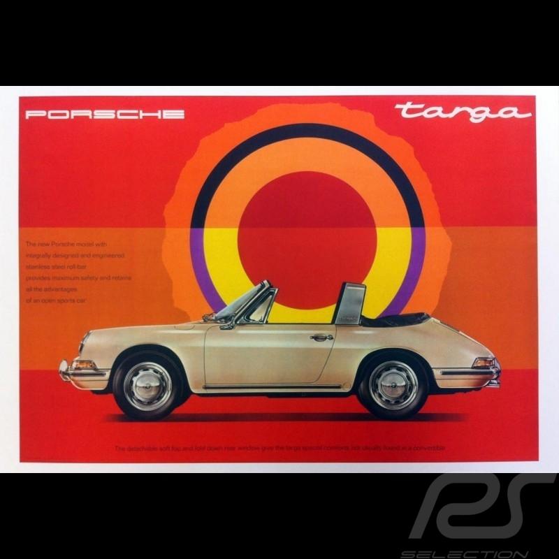 Porsche Poster 911 Targa 1967 The new Porsche model