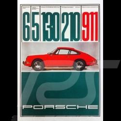 Porsche Poster 911 1965 130 PS 210 km/h